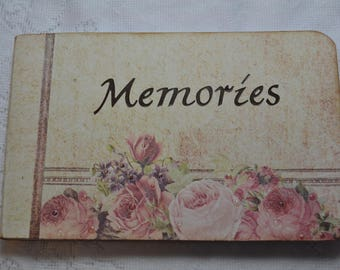 "Altered Composition Book 4.5""x 7.5"", Memories Journal"
