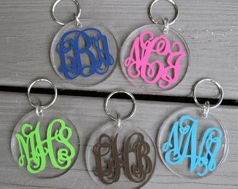Monogrammed Key Chain- Circled