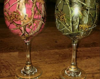 Wine Glasses - Hydrodipped