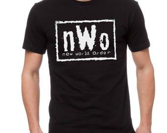 New World Order NWO Wrestling Logo Mens Shirt Sizes S-5X