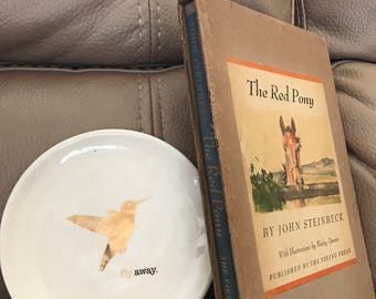 1945 Illustrated Edition of The Red Pony by John Steinbeck - Rare! First Edition!