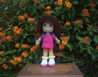 Dora The Explorer Crocheted Doll