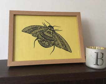 Mr Bumble Bee Paper Cut Paper Cutting Art
