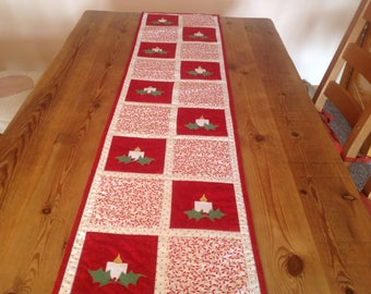 Christmas Candles Table. Runner