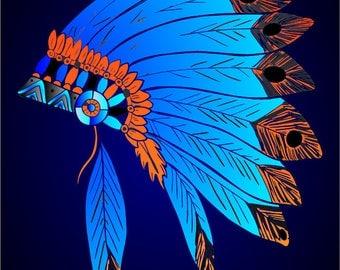 Native American Headdress Graphic Art