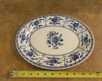 Indies oval serving plate vintage
