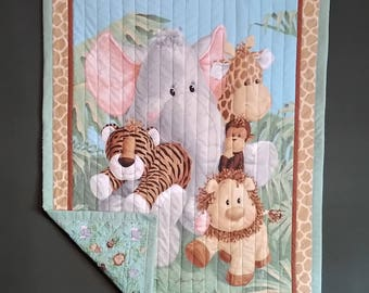 "Baby Quilt ""Jungle Babies"""