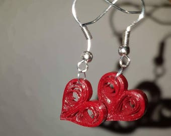Quilled heart earrings - quilling - quilled earrings - quilling earrings - small earrings- heart earrings