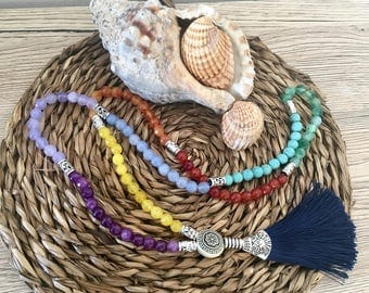 7 Chakras Natural Stones Necklace
