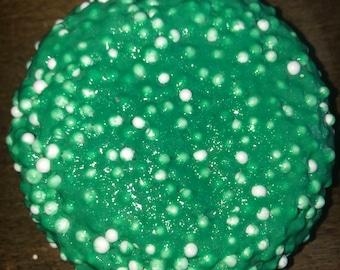 glittery green slime