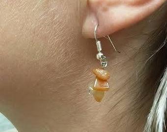 Carnelian and Silver Earrings