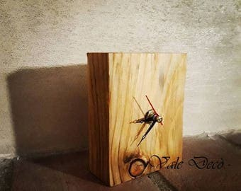 Wooden desk clock-rustic-modern Design