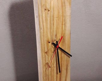 Wall-mounted wooden clock and table-rustic-modern Design