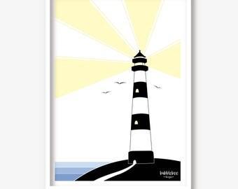Children's illustration Lighthouse art print