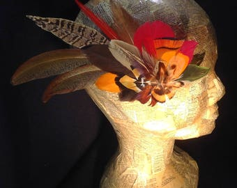 Type Fascinator feather hair clip
