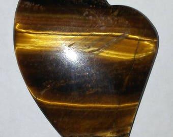 Heart Shape Agate Stone Pendant