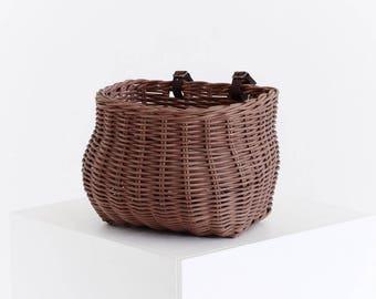 Handwoven bicycle basket, Wicker bike baskets, Front bike basket, Rear bike basket, Ethically produced, Bike basket, Basket for bike,