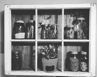 Custom wooden, window shelf