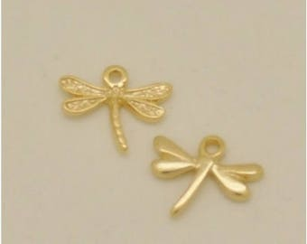 Dragonfly zamak gold bath