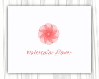 Watercolor flower logo design | Premade Logo Design | Photography Logo | Boutique Logo | Business Logo