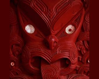 Moari, Tiki, Photographic Tryptic on Canvas