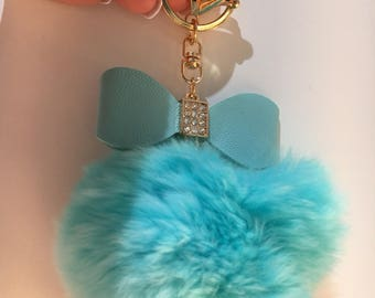 Colorful fur key chains for girls