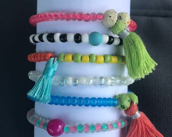 Colorful Stretch Bracelets, Great for any outfit