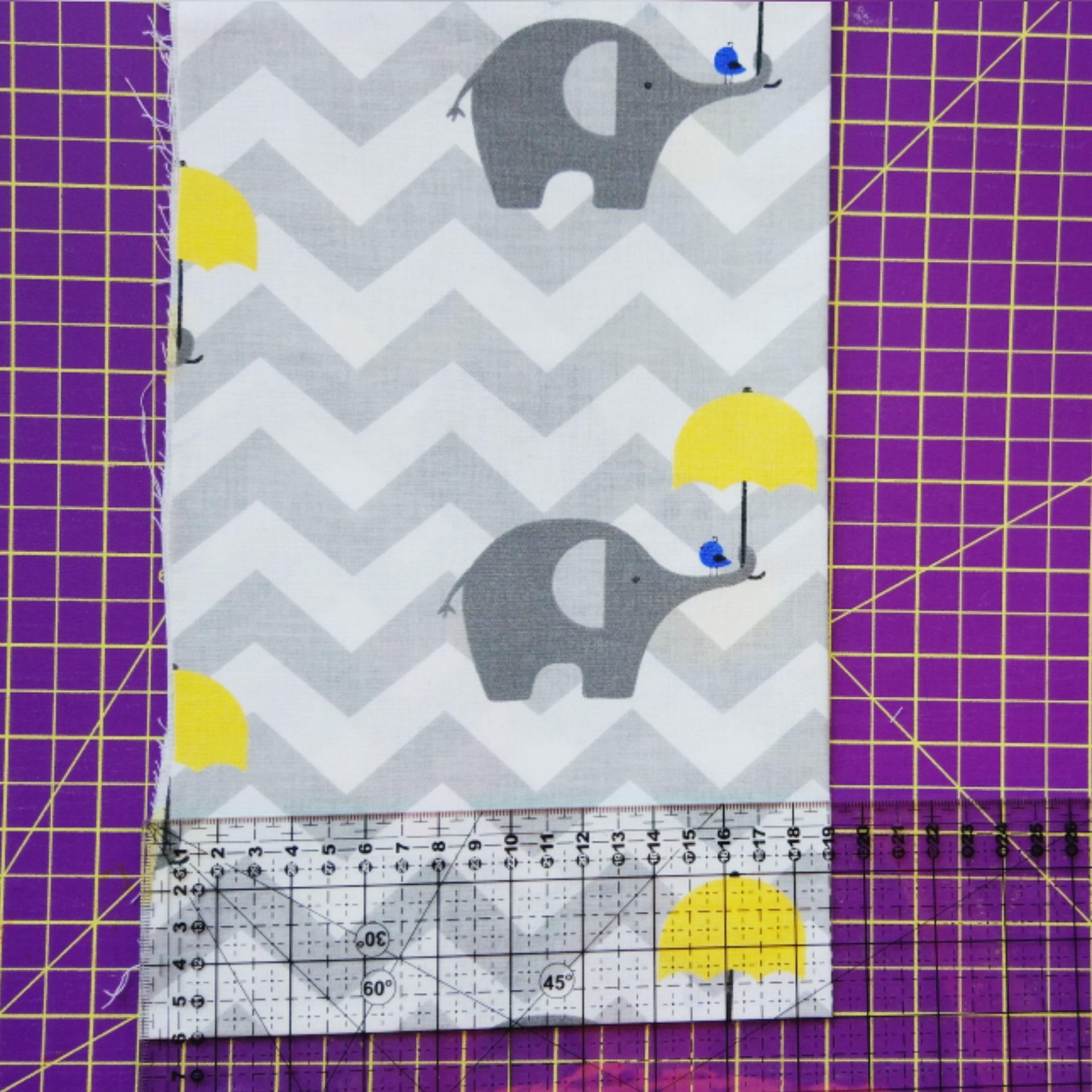 Elephant print,polka dot fabric,chevron print,stars print,grey and ...