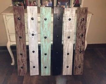 "43"" Reclaimed Barn Wood  Coat Rack/Picture Frame Display"
