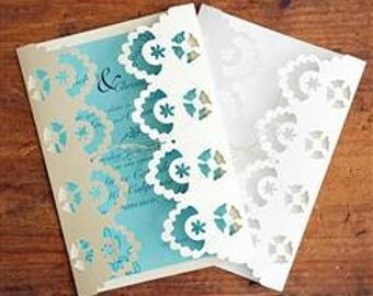 Beautiful Lace Wedding  Invitations with Complimentary framed invitation