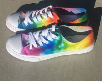 One of a kind Tie Dye Shoes-Customizable Colors, made specifically for you.