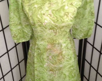 Gorgeous Green Vintage Dress Size 10
