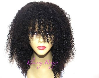 Afro Kinky Curly Custom Made Human Hair Wig