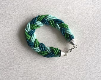 Green braid bracelet