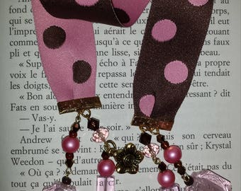 Large Brown and Pink Ribbon with assorted balls