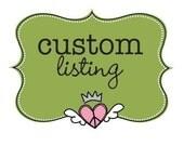 Etsy Custom Listing for Valentina Pirazzoli