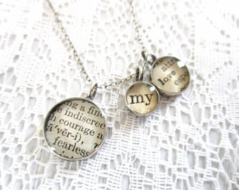 courage my love necklace