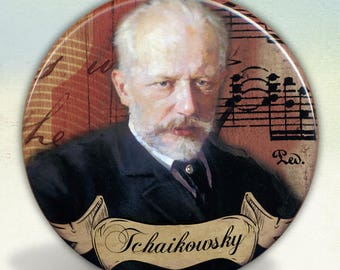 Tchaikovsky Romantic Composer pocket mirror tartx