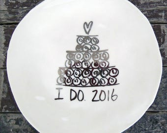 2016 Wedding Dessert Plate (SALE)