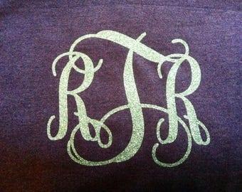 Glitter Monogrammed Sweatshirt