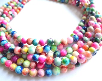 Michelle - Multi Color Jade Bridesmaid Statement Necklace
