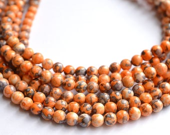 Michelle - Orange Purple Jade Chunky Necklace