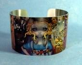 Alice in a Klimt Dream metal cuff bracelet from Jasmine Becket-Griffith Art wonderland