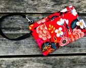 Red Wristlet, Wristlet Purse, Smartphone Wristlet, Clutch Wristlet, Women's Wallet Wristlet