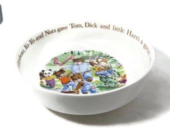 Vintage Aynsley Bowl - Mr. Teddleybear, Fine Bone China, Made in England