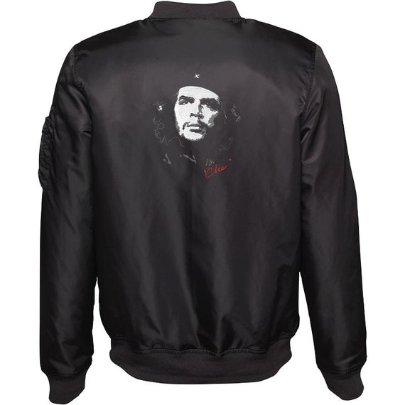 Women's Embroidered Bomber Jacket - Che Guevara