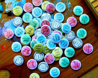 shine your light - buttons with pin back