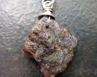 Raw Tanzanite Stone Pendant - 35mm in length