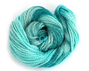 Bulky baby alpaca yarn, hand dyed chunky knitting crochet wool, Perran Yarns, Teal Temptation, turquoise blue, uk seller, yarn skein hank