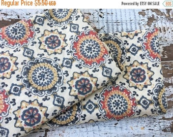 SALE- Mandala Design Fabric-Reclaimed Bed LInens-
